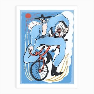 Bicycle Rodeo Art Print