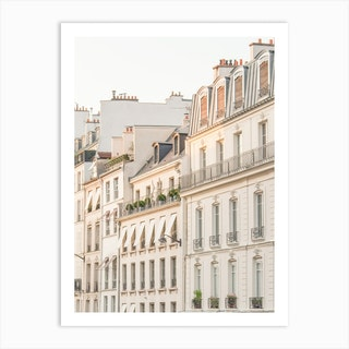 Paris Sunset Light Art Print