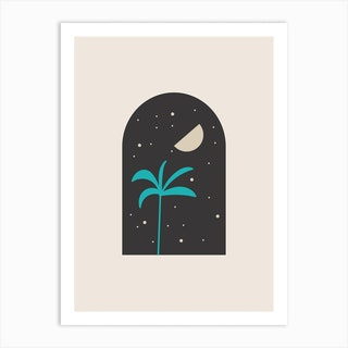 Minimal Boho Palm Tree Art Print