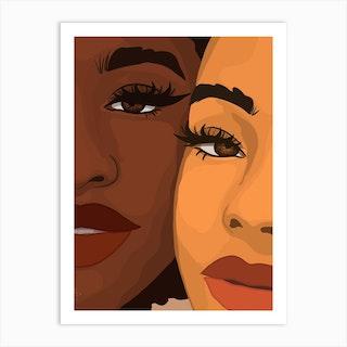 Sister Sister Art Print