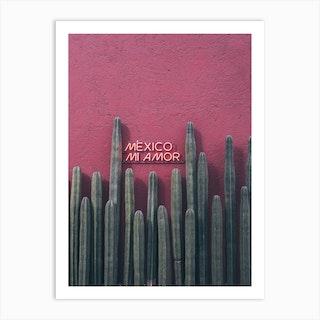 Mexico Mi Amor Art Print