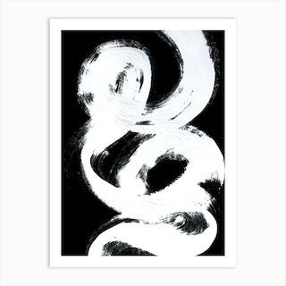 Vinyl White Abstract Art Print
