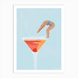 Cocktail Dip Art Print