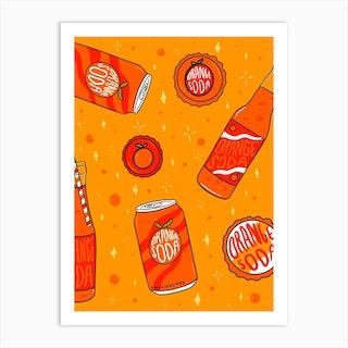 Orange Soda Art Print