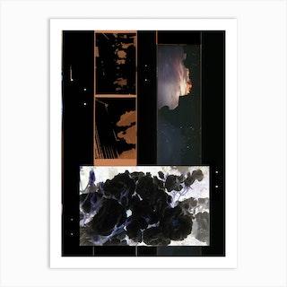 Film Collage 4 Nuit Art Print