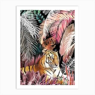 Jungle Tiger 01 Art Print