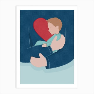 Heart Beat Boy Art Print