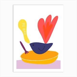Pie Bird Art Print