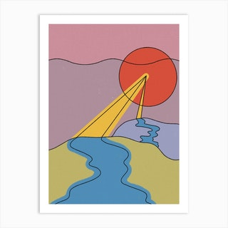 It Flows With Ease Art Print