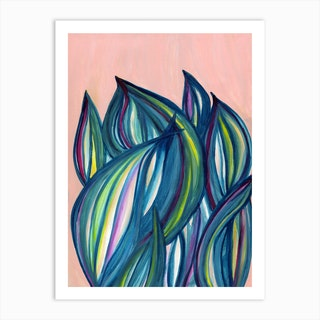 Oyster Plant Art Print