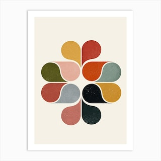Geometric Flower Art Print