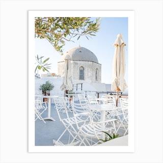 Olive Tree Courtyard Art Print