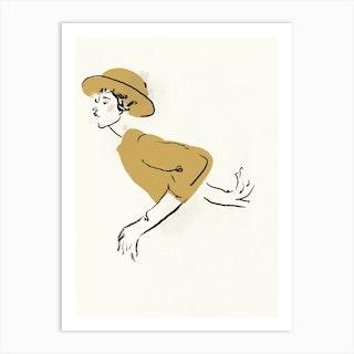 Yellow Hat Art Print