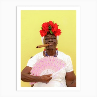 The Cuban Lady Art Print