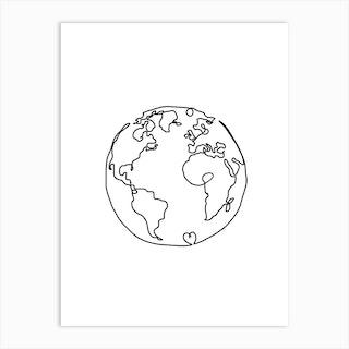 The World In Love Art Print