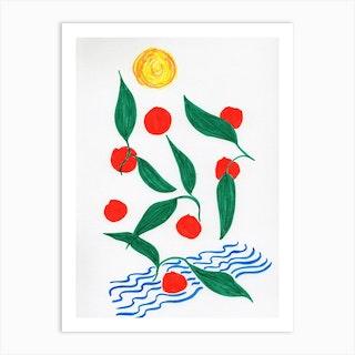 Oranges To The Sea Art Print