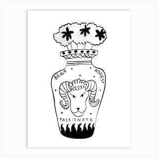 Aries Vase Art Print