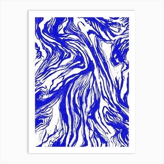 Marble Royal Art Print