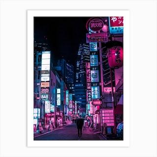 Stranger In The Night Art Print