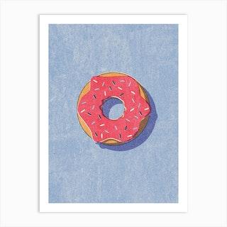 Fast Food Donut Art Print