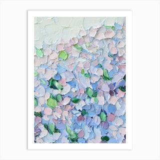 Petite Hydrangeas Art Print