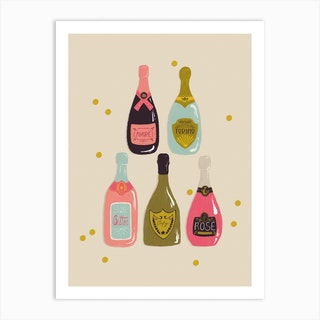 Champagne Cheers Art Print