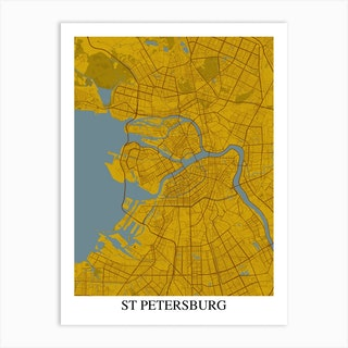 St Petersburg Yellow Blue Art Print