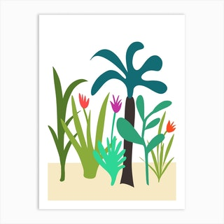 Lush Garden Art Print
