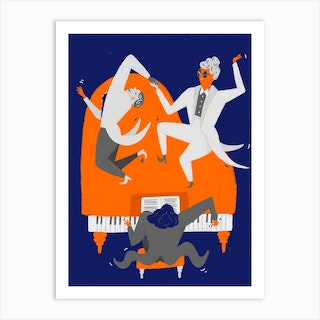 Piano Dance Art Print