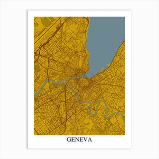 Geneva Yellow Blue Art Print