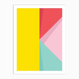 Abstract Pastel Perspective Iii Art Print
