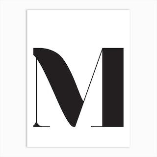 M Initial Art Print