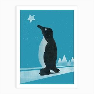 Winter Pinguin Art Print