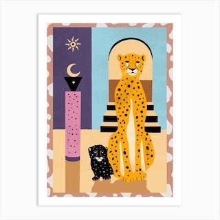 Family Of The Cheetah Art Print