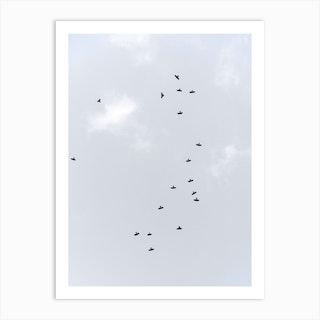 Birds Flying South Art Print
