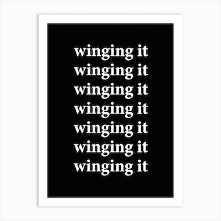 Winging It Art Print