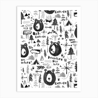 Bear Adventure Art Print