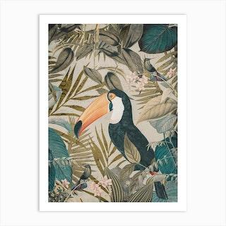 Jungle Toucan Art Print