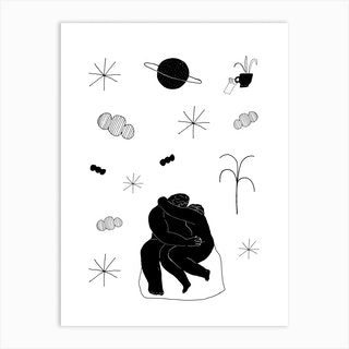 Lover In The Universe Art Print