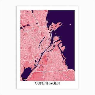 Copenhagen Pink Purple Art Print