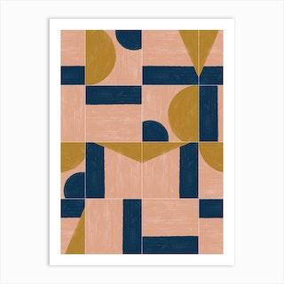 Painted Wall Tiles 01 Art Print