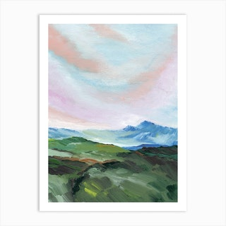 Swiss Mountain Art Print