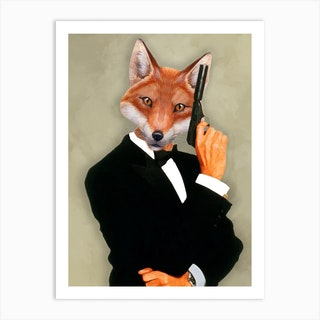 James Bond Fox Art Print