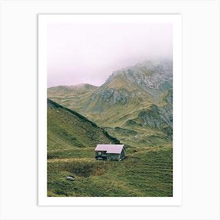 Mountain Hut Art Print