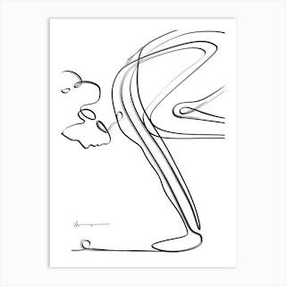 Crow Pose Abstract Art Print