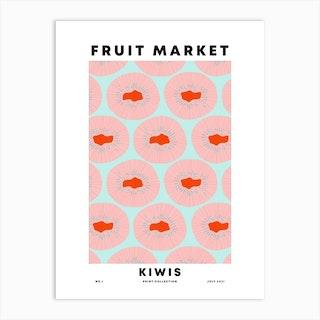 Kiwis Fruit Market Art Print