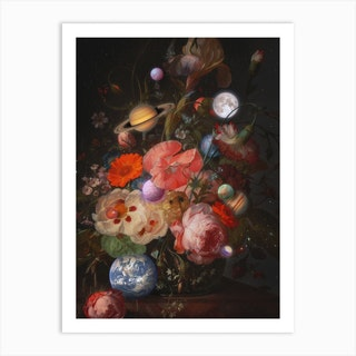 Bouquet Of Planets Art Print