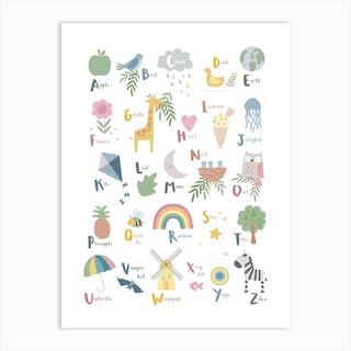 Little Things Alphabet Art Print