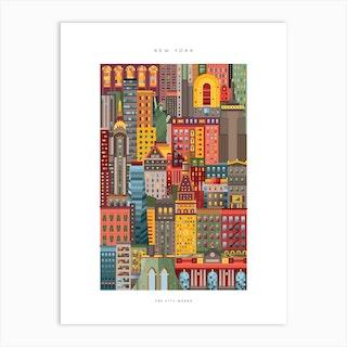 New York City Colour Art Print