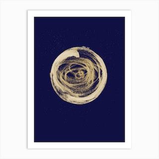 Full Circle 3 Blue Art Print